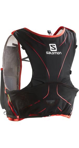 Salomon S-LAB Adv Skin Backpack 5 Set Black/Racing Red